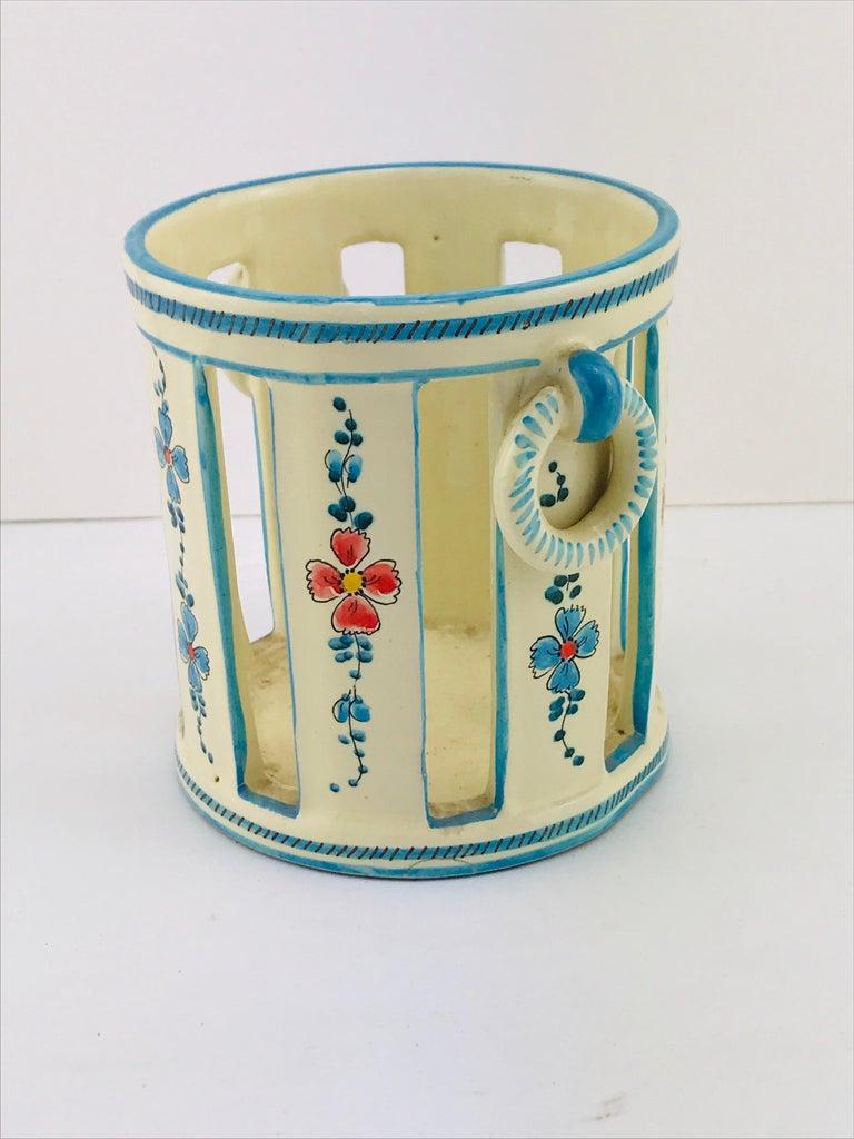 Midcentury Italian Gualdo Deruta White Ceramic Vase, 1950s In Good Condition For Sale In Byron Bay, NSW