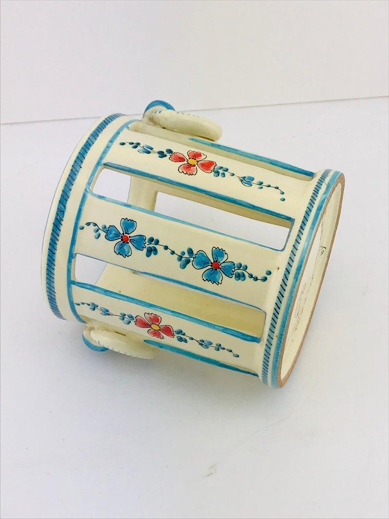 Midcentury Italian Gualdo Deruta White Ceramic Vase, 1950s For Sale 3