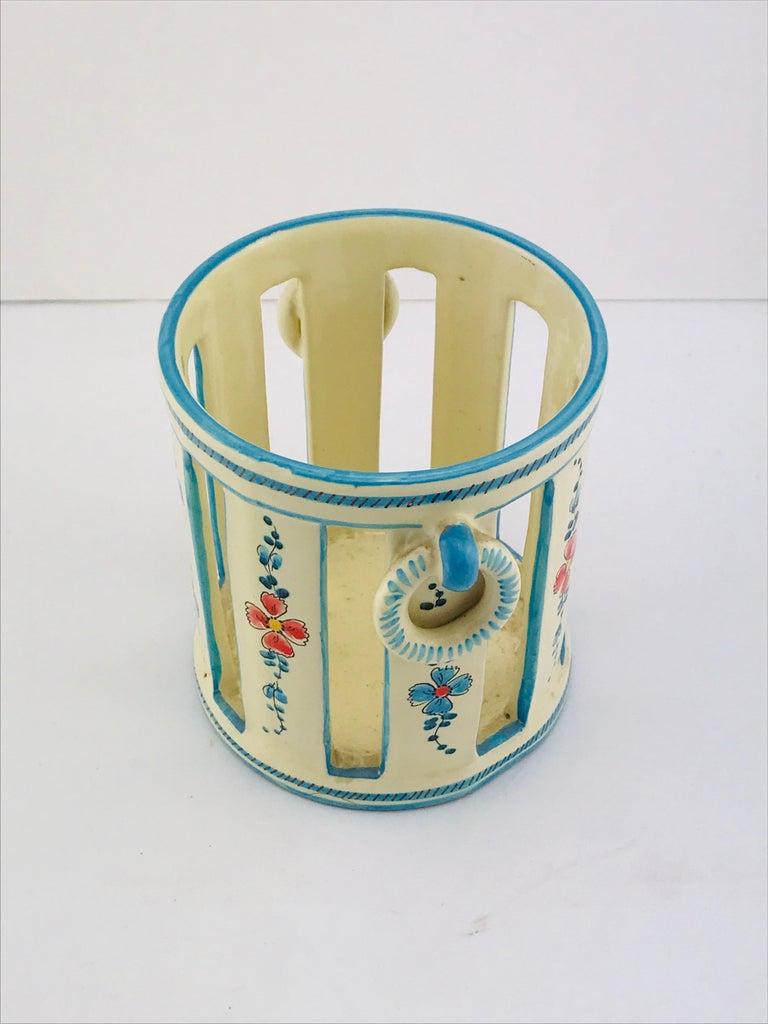 Midcentury Italian Gualdo Deruta White Ceramic Vase, 1950s For Sale 4