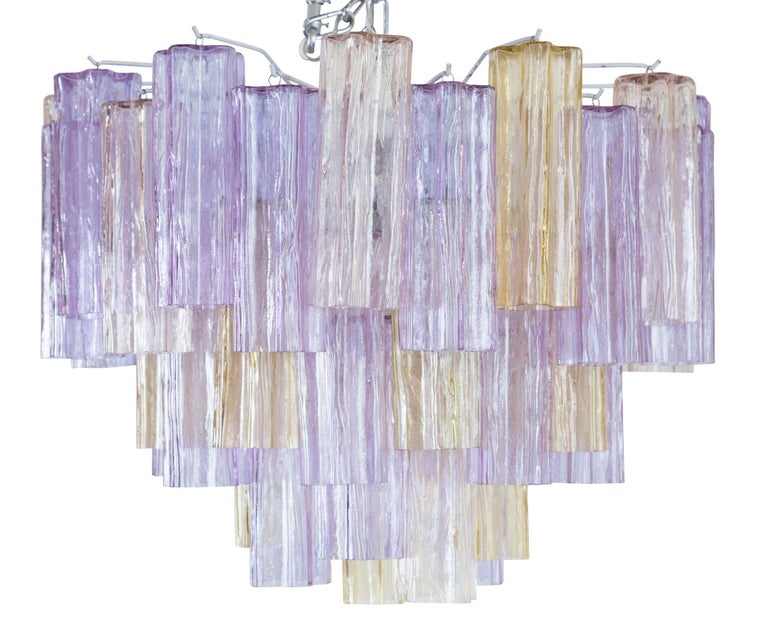 Mid Century Italian Layered Tronchi Ceiling Fixture For Sale 3