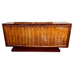 Mid Century Italian Mahogany and Brass Sideboard
