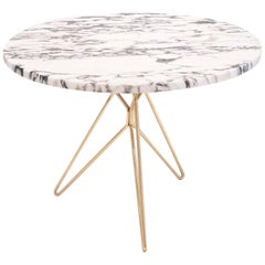 Midcentury Italian Marble Side Table