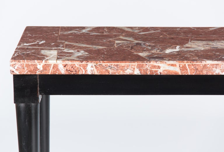Mid-Century Italian Marble Top Console Table, 1950s For Sale 5