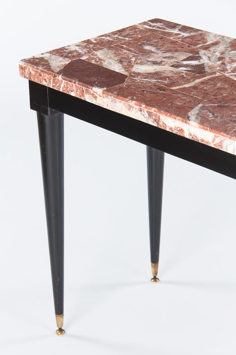 Mid-Century Italian Marble Top Console Table, 1950s For Sale 6