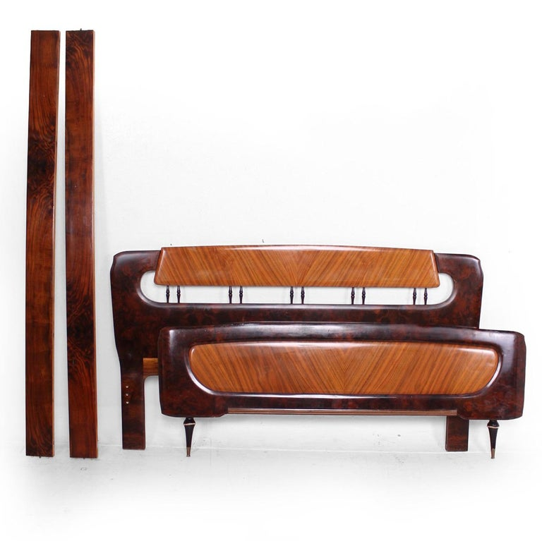 Mid Century Italian Modern attributed to Borsani Bed Frame For Sale 4