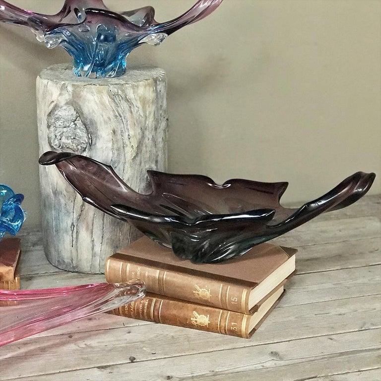 Midcentury Italian Murano Glass Centerpiece For Sale 5