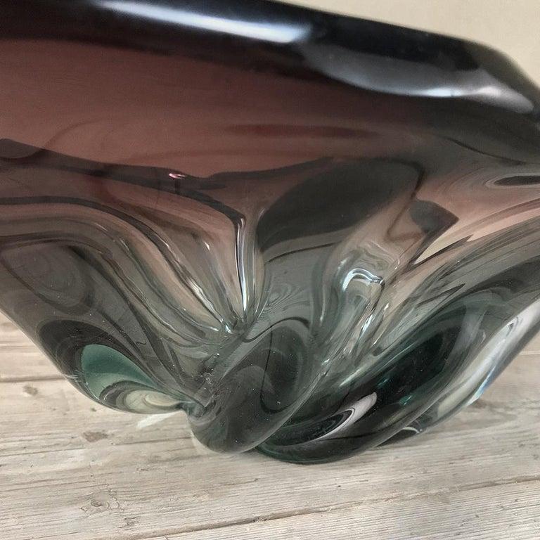Art Glass Midcentury Italian Murano Glass Centerpiece For Sale