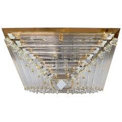 Midcentury Italian Murano Glass Chandelier