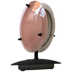 Midcentury Italian Pink & White Lucite Table Lamp, 1960s