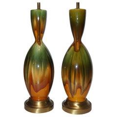 Mid Century Italian Porcelain Lamps