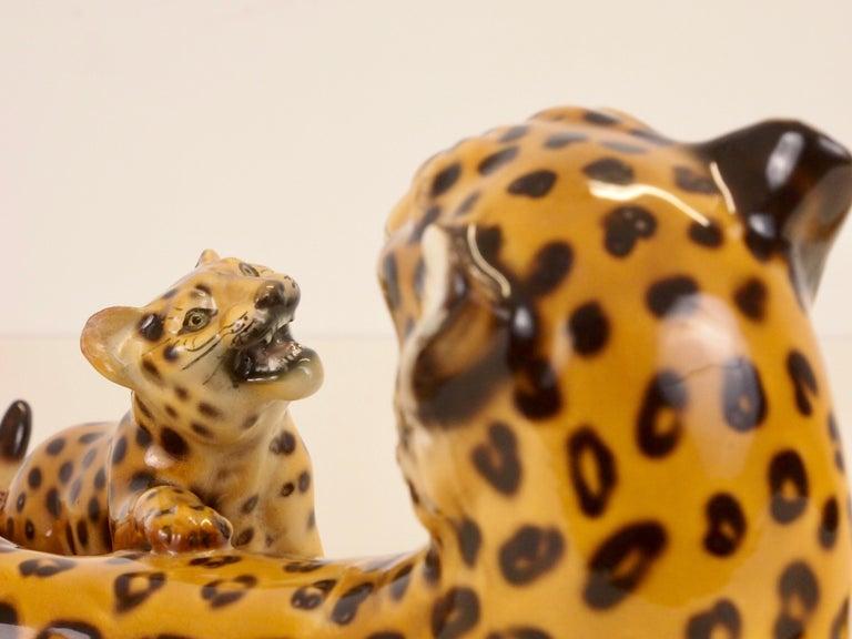 Midcentury Italian Porcelain Leopard Statuette Favaro Cecchetto Attributed 7
