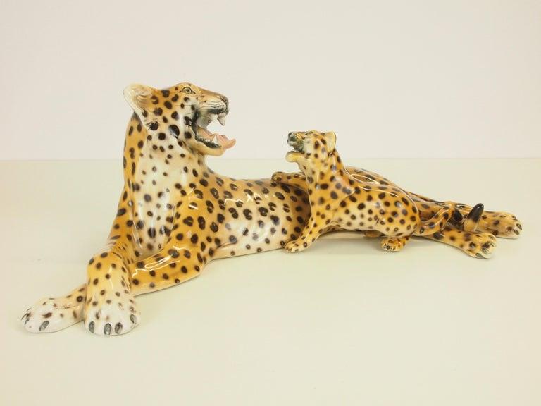 Midcentury Italian Porcelain Leopard Statuette Favaro Cecchetto Attributed 10