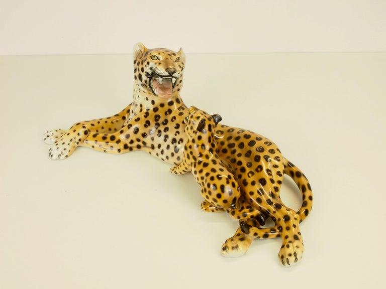 Midcentury Italian Porcelain Leopard Statuette Favaro Cecchetto Attributed 11