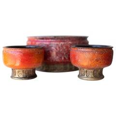 Midcentury Italian Pottery Candleholders
