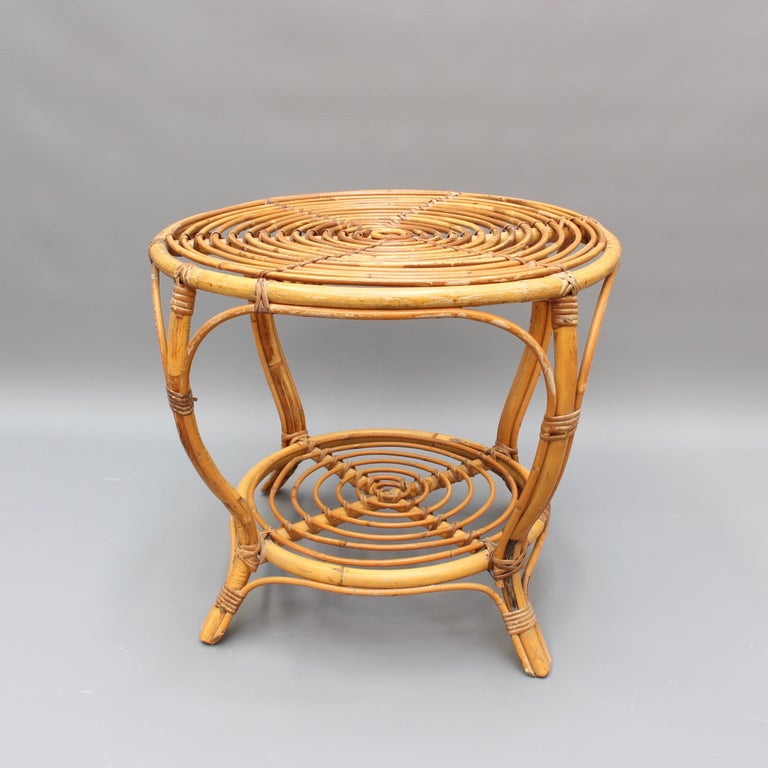 Midcentury Italian Rattan Coffee / End Table 'circa 1960s' In Good Condition For Sale In London, GB