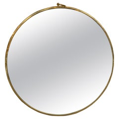 Mid Century Italian Round Wall Mirror, 1970s