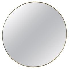 Mid Century Italian Round Wall Mirror, Italy, 1960