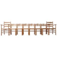 Midcentury Italian Rush Dining Chairs