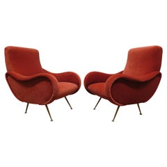 Midcentury Italian Sculpted Lounge Chairs