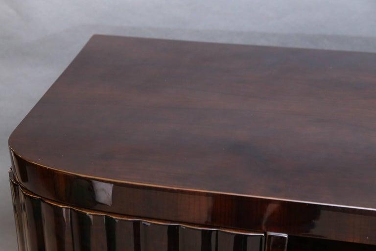 Mid-Century Modern Midcentury Italian Sideboard or Book Case in Walnut For Sale
