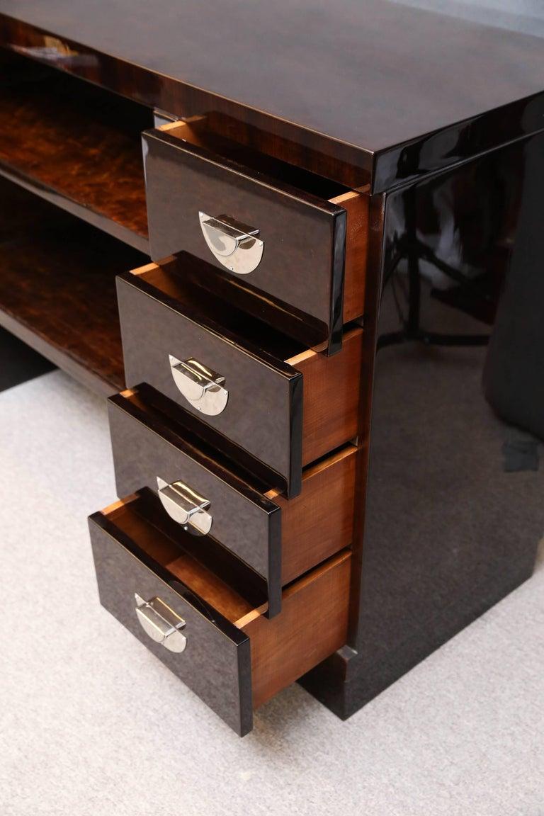 Midcentury Italian Sideboard or Book Case in Walnut For Sale 3
