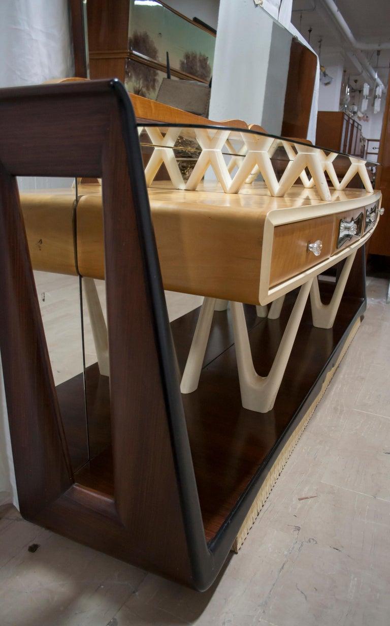 After Osvaldo Borsani Midcentury Italian Sideboard Console Table, 1950s For Sale 6