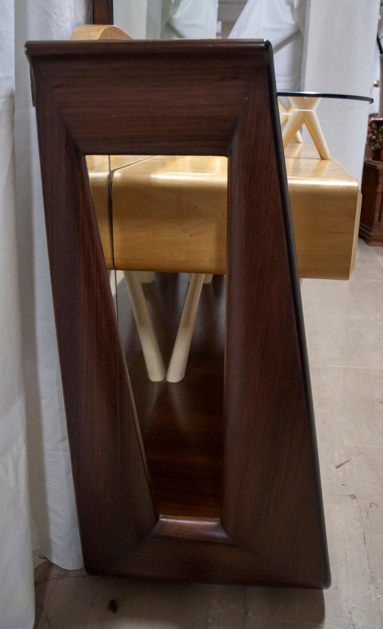 After Osvaldo Borsani Midcentury Italian Sideboard Console Table, 1950s For Sale 8
