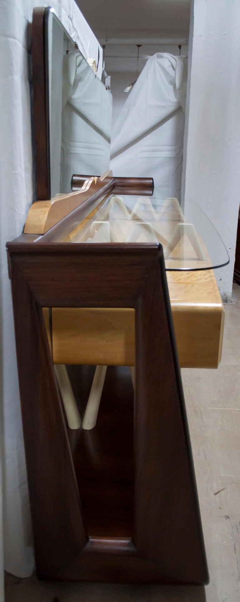 After Osvaldo Borsani Midcentury Italian Sideboard Console Table, 1950s For Sale 9