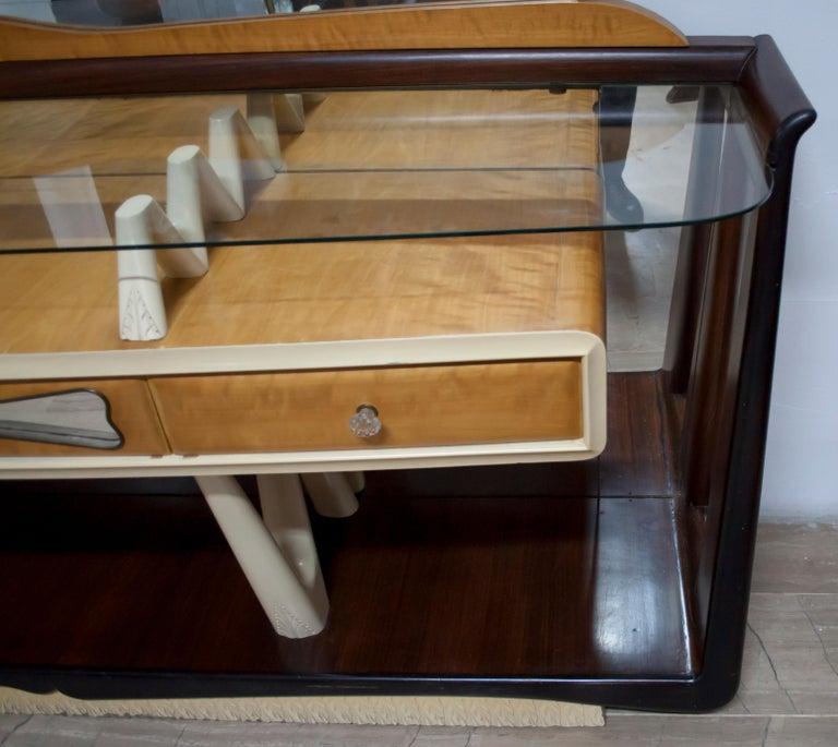Mid-Century Modern After Osvaldo Borsani Midcentury Italian Sideboard Console Table, 1950s For Sale