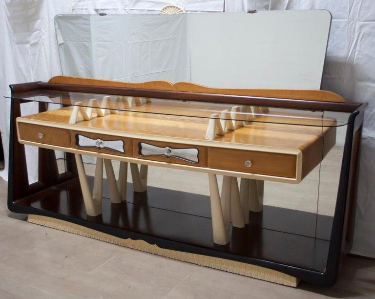 Mid-20th Century After Osvaldo Borsani Midcentury Italian Sideboard Console Table, 1950s For Sale