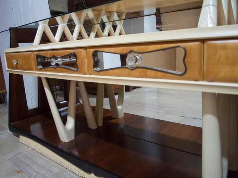 After Osvaldo Borsani Midcentury Italian Sideboard Console Table, 1950s For Sale 2