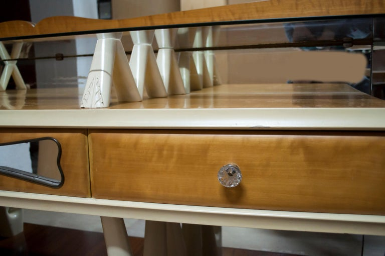 After Osvaldo Borsani Midcentury Italian Sideboard Console Table, 1950s For Sale 3