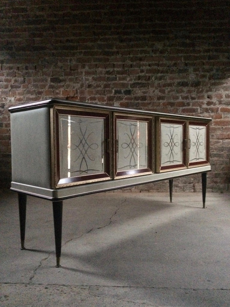 Midcentury Italian Sideboard Credenza 1950s Umberto Mascagni In Excellent Condition For Sale In Longdon, Tewkesbury