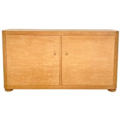 Midcentury Italian Sideboard in Bird's-Eye Maple by Saporiti, circa 1975