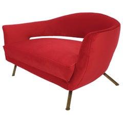 Mid Century Italian Sofa by Lenzi Nello, 1954