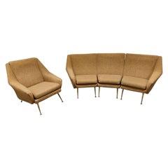 Mid Century Italian Sofa Set, 1950s