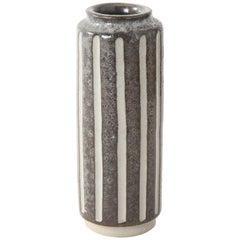 Midcentury Italian Striped Pottery Vase