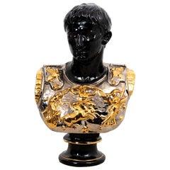 Mid-Century Italian Terra Cotta Bust of a Roman Soldier