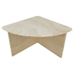 Mid-Century Italian Travertine Coffee Table Section 3, 1980s