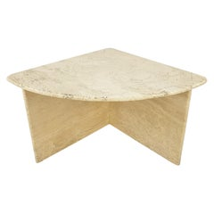 Mid-Century Italian Travertine Coffee Table Section 4, 1980s
