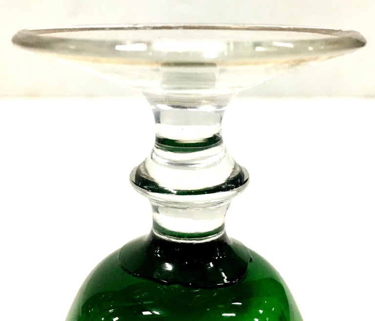 Mid-Century Italian Venetian Glass & 22 Karat Gold Drinks Set/7 For Sale 4
