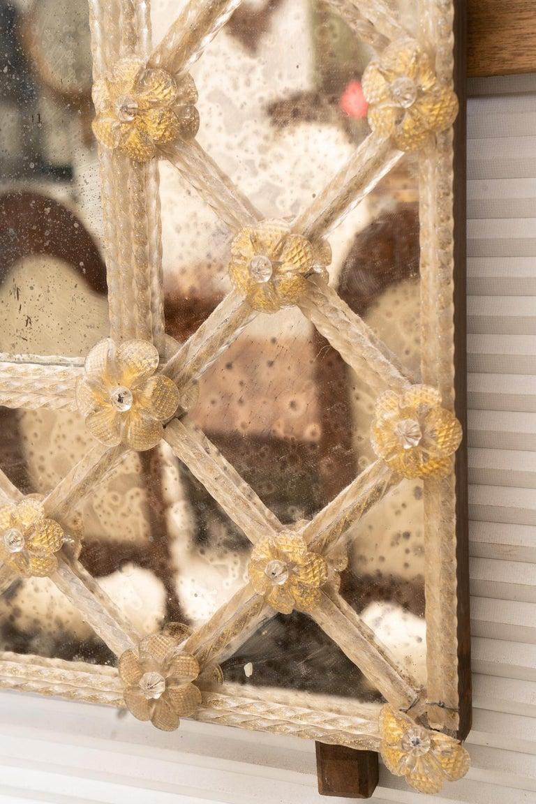 Mid-Century Modern Midcentury Italian Venetian Mirror For Sale