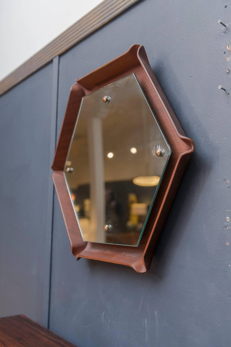 Mid Century Italian Wall Mirror In Excellent Condition For Sale In San Francisco, CA