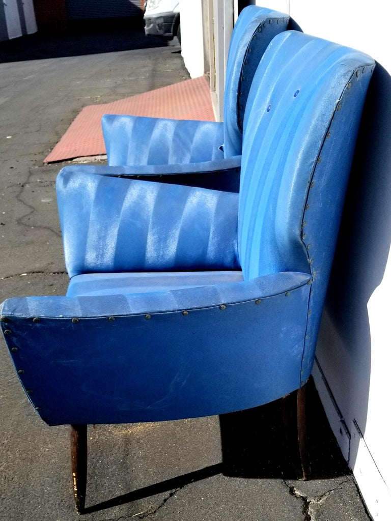 Midcentury Italian Wing-Shaped Side Chairs For Sale 4