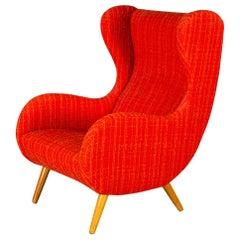 Midcentury Italian Wingback Chair