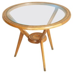 Mid Century Italy Tripode Round Coffee Table Ico Parisi attributed, Cantù