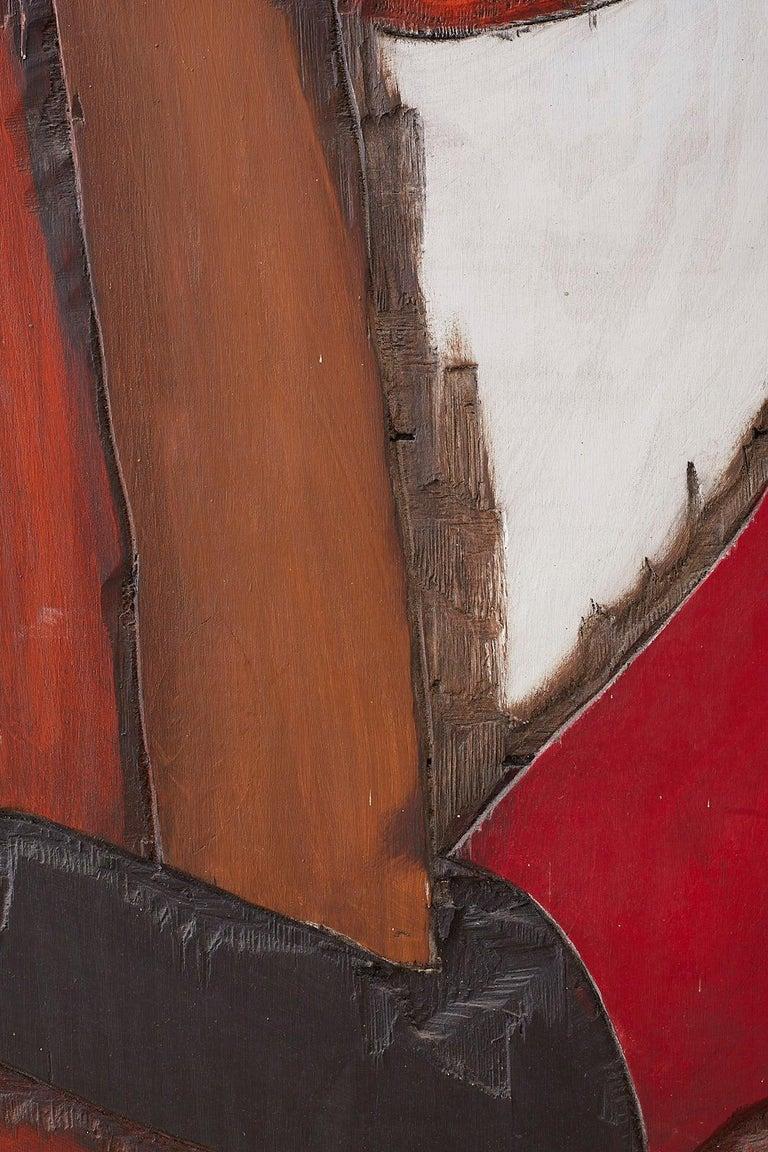 Midcentury Jean-Claude Gaugy Painting Wood Relief Sculpture For Sale 5