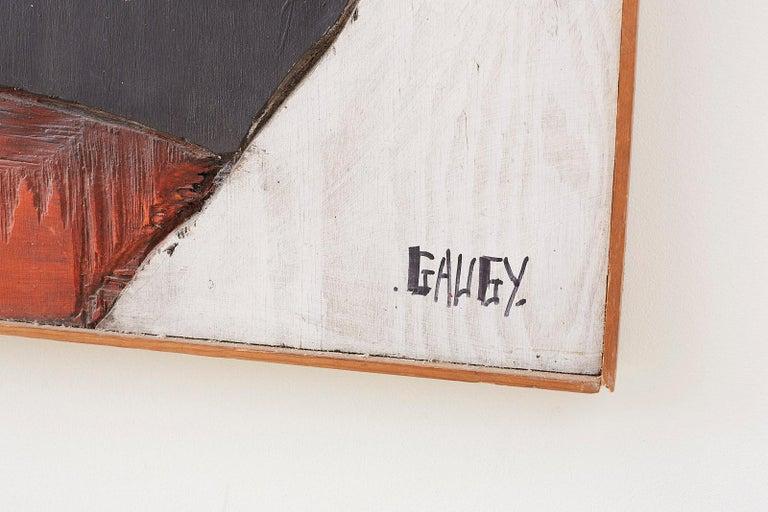 Midcentury Jean-Claude Gaugy Painting Wood Relief Sculpture For Sale 8