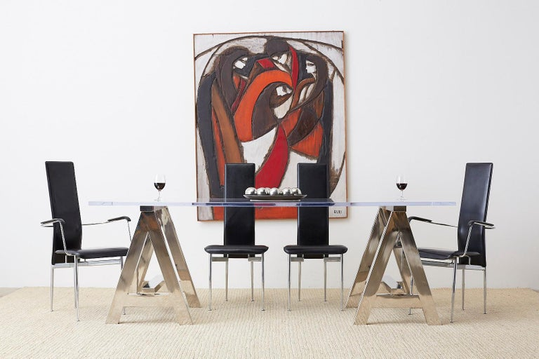 20th Century Midcentury Jean-Claude Gaugy Painting Wood Relief Sculpture For Sale