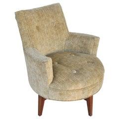 Midcentury Jens Risom Swivel Lounge Chair